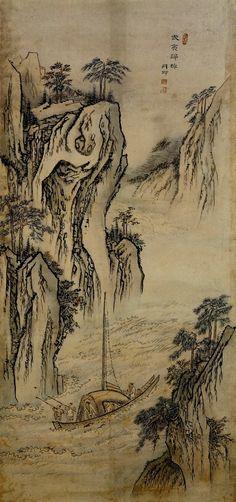 단원(檀園) 김홍도(金弘道) 1745-1806? 김홍도는 1745년에 태어나서 1806년 이후 어느 해엔가 죽었다. 최근의 학자들은 1806년 경에 죽은 것으로 추측한다. 김홍도는 지금 그의 그림으로 전하는 그림만 500점에 육박하고 그 중에도 다수의 진작과 걸작이 있다. 김홍도는 한국 회화사에 있어서 그 누구보다도 많은 양과 질 높은 그림들을 남기고 있다. 하지만 아이러니 하게도, 우리는 김홍도의 부인이 누구이고 김홍도가 말년을.. Korean Painting, Chinese Painting, Chinese Art, Korean Art, Asian Art, Modern Pictures, Conceptual Art, Ink Painting, Art Google