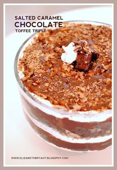 salted caramel chocolate toffee trifle