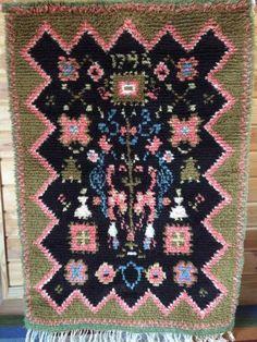 Ryijy Rya Rug, Wool Rug, Tapestry Weaving, Bohemian Rug, Felt, Wallet, Rugs, Knitting, Crochet