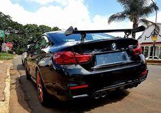 Gloss black BMW M4 GTS looks immense  Photo via @james151brown  #ExoticSpotSA #Zero2Turbo #SouthAfrica #BMW #M4GTS