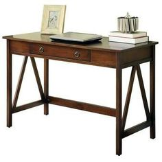 Display a collection of your favorite objects or antique atlases on this essential desk, a handsome addition to the library or study. Home Office Storage, Home Office Desks, Home Office Furniture, Office Decor, Office Ideas, Office Nook, Office Chairs, Bedroom Furniture, Writing Desk With Drawers