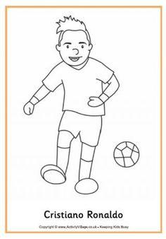 Cristiano Ronaldo Colouring Page Coloring Pages To Print, Colouring Pages, Football Kits, Football Players, Football Coloring Pages, Busy Book, Soccer, Cristiano Ronaldo, Awesome