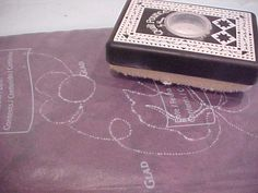 Marking Quilting Designs with Glad Press 'N Seal Freezer Wrap