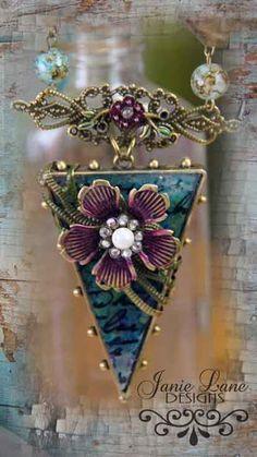 Linda Peterson: Creative LIFE: Vintage Poppy Jewelry Tutorial #flower # bezel