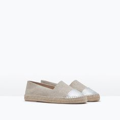 Image 2 of METALLIC CAP TOE ESPADRILLES from Zara