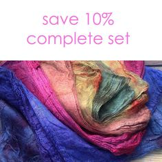 Opulent Fibers Store - Fall Transitions Silk Hankies Set, $52.65 (http://www.opulentfibers.com/fall-transitions-silk-hankies-set/)