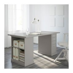 IKEA KLIMPEN table Can be placed in the middle of a room because the back is finished.