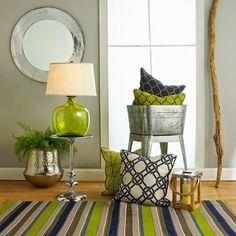 Michelle - Blog #Home #color : #Green Fonte : http://www.shadesoflight.com/?cat=622