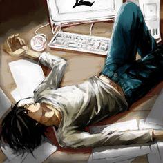 L, death note, and anime Bild