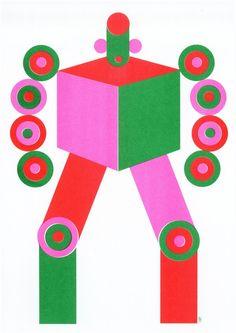Olimpia Zagnoli Love Robot art print - art print for kids