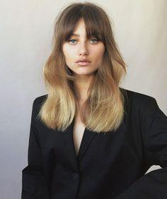 69 Ideas hair color balayage bangs colour for 2019 Ombre Hair Natural, Best Ombre Hair, Ombre Hair Color, Ombré Hair, Face Hair, Her Hair, Blonde Hair Bangs, Corte Y Color, Dark Blonde