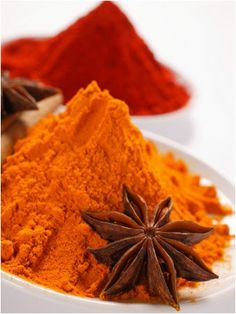 Curry Powder and Paprika, Star Anise  YUM! Cant beat Indian Food :))
