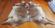 COWHIDE RUG A GORGEOUS ROAN & WHITE SALT & PEPPER PREMIUM BRAZILIAN COWHIDE RUG  #ANIMALIAEXOTICA