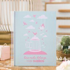 Cuaderno espiral A-4 - cuadernos bonitos