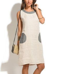 Another great find on #zulily! Sand Aline Linen Dress #zulilyfinds