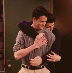 Chandler and Joey. The best bromance