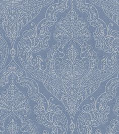 Home Decor 8''x 8'' Swatch- Upholstery -Waverly Queen's Lace/Blue Jay: fabric: Shop | Joann.com