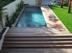 Ipe wooden swimming pool surround in Marseille for an architect& house - - . - Surrounding wooden Ipe pool in Marseille for an architect& house – – Patrice Meynier - Swiming Pool, Small Swimming Pools, Small Backyard Pools, Small Pools, Above Ground Swimming Pools, Swimming Pools Backyard, Swimming Pool Designs, In Ground Pools, Backyard Landscaping
