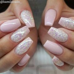 Nail Designs With Glitter Collection bildergebnis fr nails design nageldesign ngel Nail Designs With Glitter. Here is Nail Designs With Glitter Collection for you. Nail Designs With Glitter 36 elegant glitter nail art design ideas pa. Cute Acrylic Nails, Cute Nails, Pretty Nails, Faux Ongles Gel, French Nail Art, Nail Polish, Nail Nail, Pink Polish, Nagel Gel