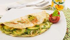Omelette con fiori di zucca