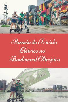 Que tal passear de triciclo elétrico pelo Boulevard Olímpico? O passeio sai do AquaRio, passa pelos painéis do Kobra, pela Praça Mauá e pelo Museu do Amanhã.