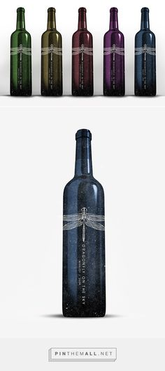 DRAGONFLY wine label designed by Natasza Salanska. Pin curated by #SFields99 #packaging #design