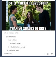 This is intereesting because 50 shades of grey started as a twilight fanfiction