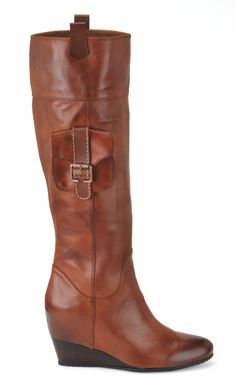 "The Sofft ""Brooklyn"" wedge boot has a functional pocket for a downtown look.  #boots #brooklyn   http://www.shoeline.com/asp/dcpItem.asp?style=S1415440"