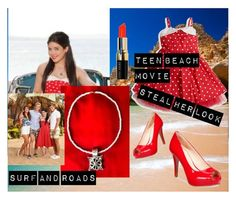 """Steal her look-Tean Beach Movie"" by rebel-289 ❤ liked on Polyvore featuring Disney, Nine West and Bobbi Brown Cosmetics"