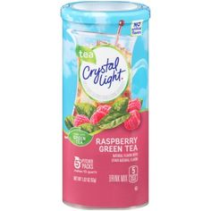Crystal Light Drink Mix, Raspberry Green Tea, Pitcher Packets, 5 Count (Pack of 12 Canisters): Enjoy low- and no-calorie drinks on the go or at home. Our refreshing fruity and tea flavors are available in powder or liquid you can mix with water. Raspberry Iced Tea, Peach Ice Tea, Raspberry Lemonade, Lemonade Drink, Crystal Light Pure, Crystal Light Drink Mix, Green Tea Drinks, Shops, Tea Powder