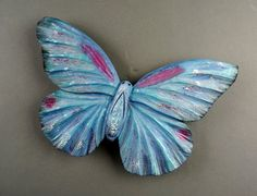 Butterfly carving wood Art wall animal Art blue by DavydovArt