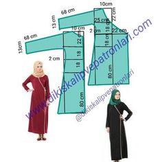 @dikiskalipvepatronlari instagram hesabimda Namaz Elbisesi kalibi. Pratik ve Kolay kesim anvelop elbise kalıbı.