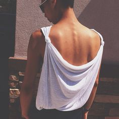 Draped tank top... easy to make from old t-shirt! #diy #inspiration