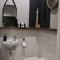 De make-over van onze hal en toilet met verf van Farrow & Ball | Huizedop New Toilet, Farrow Ball, Interior Decorating, Decorating Ideas, Home Improvement, Sink, New Homes, Mirror, Bathroom