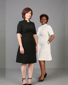 ee5c8dc42e8 Navy Knee Length Designer Clergy Dress from House of ilona Apparel