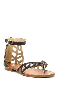 Laser Cut Thong Sandal