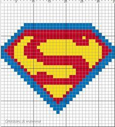 C2c Pixel Crochet Blanket, Graph Crochet, C2c Crochet, Crochet Stitches Patterns, Knitting Patterns, Cross Stitch Charts, Cross Stitch Patterns, Superman Crochet, Graph Paper Art