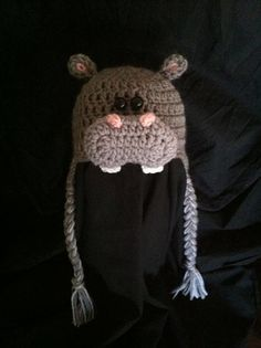Crochet Hippo Hat - BABY & CHILD SIZES on Etsy, $20.00