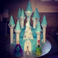 Disney Frozen castle cake. Made with Wilton castle kit.