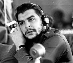 Che Wearing Radio Headset by Alberto Korda