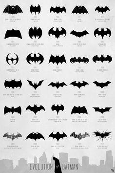 Batman logo evolution #designnerds x