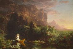 Thomas Cole - The Voyage of Life Childhood, 1842 (National Gallery of Art) - The Voyage of Life - Wikipedia