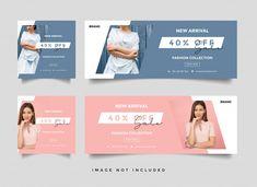 Folleto o cupón de venta de moda Vector . Web Design Logo, Web Banner Design, Ad Design, Layout Design, Web Banners, Fashion Cover, Fashion Sale, Fashion Banner, Sale Flyer