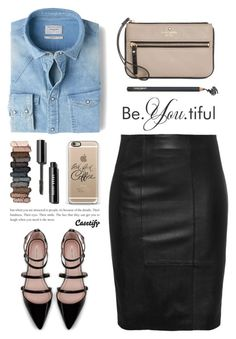 """""""..."""" by yexyka ❤ liked on Polyvore featuring MANGO, Zara, Kate Spade, Napoleon Perdis, Casetify and Urban Decay"""