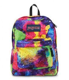 JANSPORT SUPERBREAK BACKPACK SCHOOL BAG - Multi Neon Galaxy