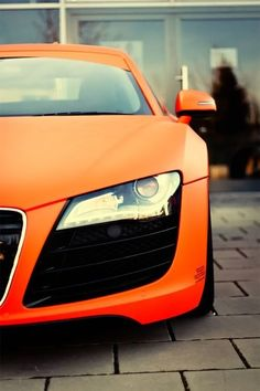 Audi R8 in Orange and black. Thoughts? HOT or NOT? #TinderforCars