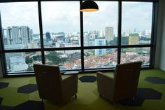 View of the city from our Singapore office.