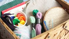child's sewing basket