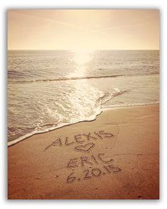 Beach Love Personalized Art Wedding Giftsbeach