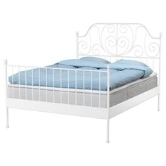 LEIRVIK Bed frame - Queen - IKEA / I LOVE THIS BED, it is beautiful!!